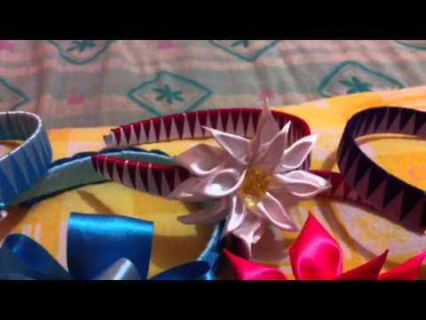Diademas decoradas con liston