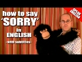 Learning English-Lesson Ten ( Saying Sorry )