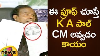 KA Paul Shows Sensational Proof To Media | KA Paul Says I Am The Next CM Of AP | Mango News - MANGONEWS