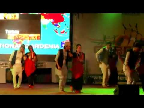 Nepali Fusion Group Dance , The Everest Group ,Garden City college , Bangalore , India