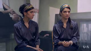 Iranian Twin Sisters Win Over the US with Their Emotional Art - VOAVIDEO
