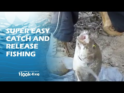 How to remove a hook from a fish's mouth using Hook-Eze.
