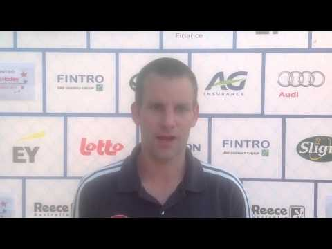 Fintro EuroHockey Junior Championships 2014 Day 4 - Post match interview ENG-FRA (m) 7-0
