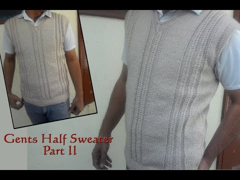 Gents Half Sweater Step by Step Part II (जेंट्स  हाल्फ स्वेटर )