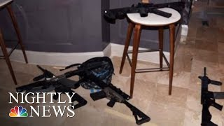 Surveillance Video Shows Vegas Gunman Methodically Bringing Suitcases Of Weapons | NBC Nightly News - NBCNEWS