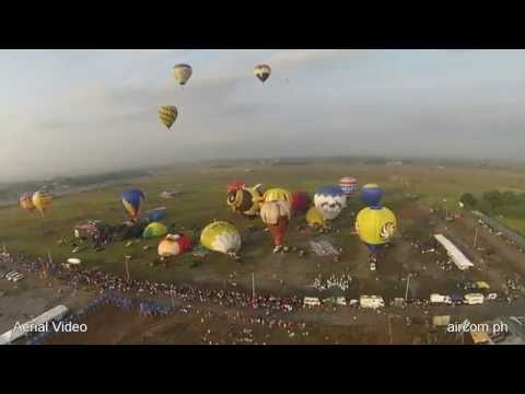 Philippine international Balloon Festival- Aerial video