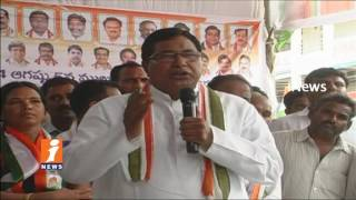 Cong Jana Reddy Supports To Ponnam Prabhakar Hunger Strike For Medical College In Karimnagar | iNews - INEWS