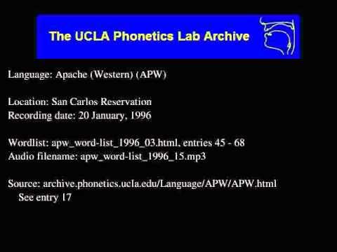 Western Apache audio: apw_word-list_1996_15