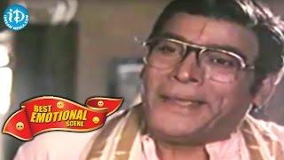 Telugu Movies || Best Emotional Scene || Donga Mogudu Movie || Rao Gopal Rao, Chiranjeevi - IDREAMMOVIES