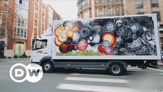Art trucks over the open road | DW English - DEUTSCHEWELLEENGLISH