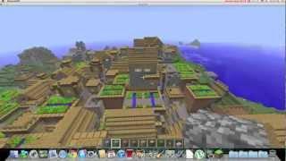 Biggest House In The World Minecraft minecraft - biggest village ever - youtube