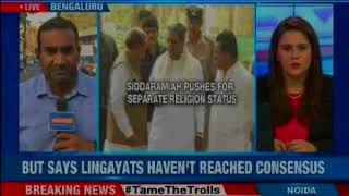 Karnataka CM Siddaramaiah pushes for separate religion status for Lingayat Community - NEWSXLIVE