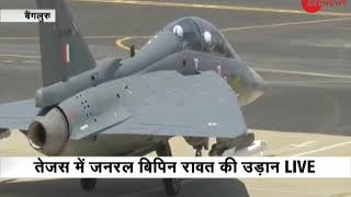 Army Chief General Bipin Rawat takes to skies in LCA Tejas combat aircraft - ZEENEWS