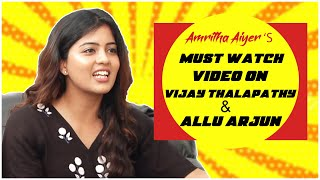 Amritha Aiyer About Allu Arjun & Vijay Thalapathy | TFPC Exclusive Interview - TFPC