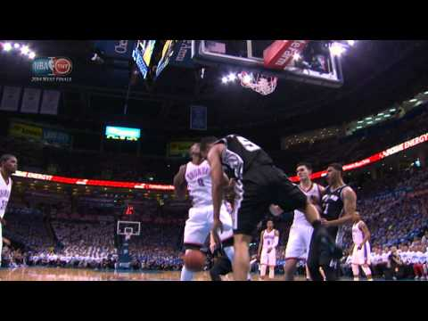 Cory Joseph Drives and Drops the Poster Dunk on Serge Ibaka