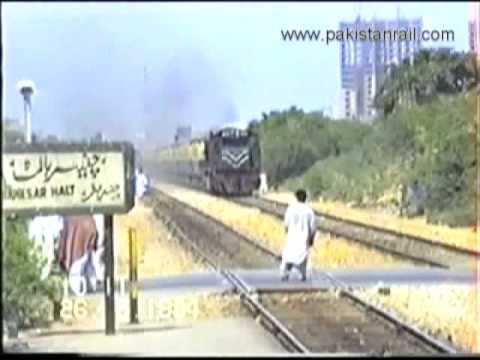 Pakistan Railways Express Trains - video clips from 1994 archive of www.pakistanrail.com
