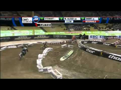 2012 AMA Supercross Los Angeles 450 Heats 1+2 round 3