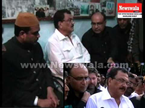 Minister Minorities Ahmedullah visited Bibi Ka Alawa Hyderabad for Muharram 2013