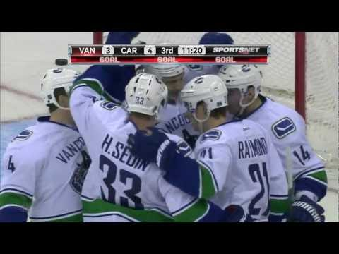Canucks at Canes - Alex Burrows Goal - 12.16.11 - HD