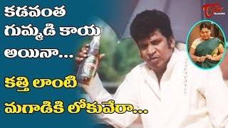 కడవంత గుమ్మడి కాయ అయినా... కత్తి లాంటి మగవాడికి లోకువేరా... | Telugu Movie Comedy Scenes | NavvulaTV - NAVVULATV