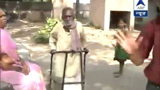 Elderly and physically chllenged voter in Patna Sahib - ABPNEWSTV