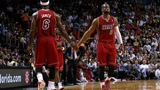 Wade & LeBron Handle The Phoenix Suns