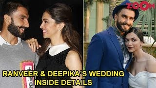 Ranveer Singh & Deepika Padukone's wedding all the INSIDE details - ZOOMDEKHO