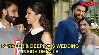Ranveer Singh & Deepika Padukone's wedding all the INSIDE details - ZOOMDEKHO