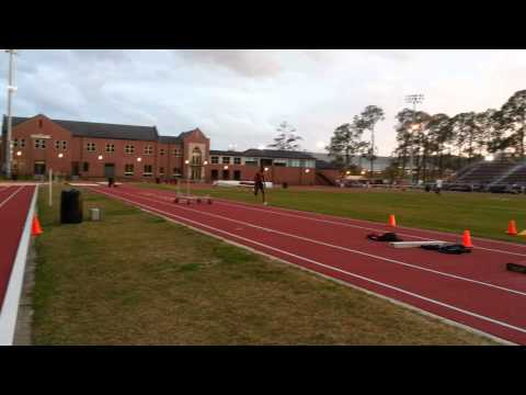 12 Step Approach Long Jump Practice 2013 (Slow-Mo)