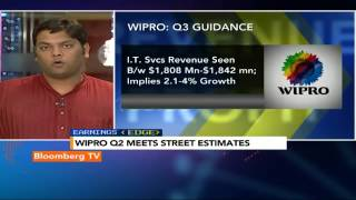 Earnings Edge: Wipro Q2 Meets Street Estimates - BLOOMBERGUTV