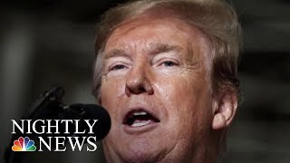 Trump Quiet About Mueller Report As 2020 Dems. Call For Transparency | NBC Nightly News - NBCNEWS