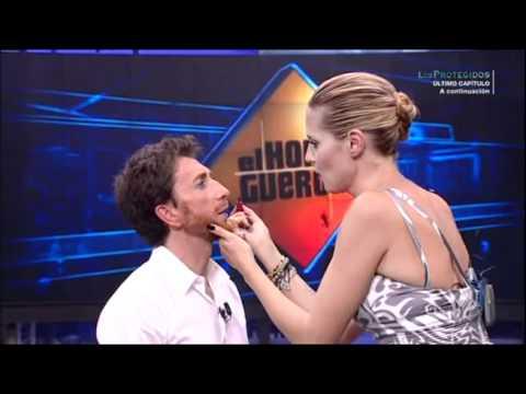 El Hormiguero - Heidi Klum maquilla a Pablo Motos y posan juntos