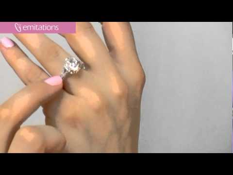 CZ Engagement Ring - Katie Holmes Inspired Jewellery