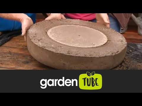 The Gardener Magazine: Making a concrete water feature with tyres