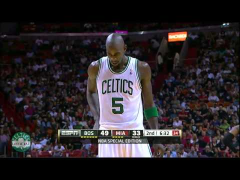 Kevin Garnett Highlights vs.Miami Heat 4/10/2012 - 24 points [HD]