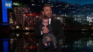 Kimmel makes emotional plea for children's health care while holding his son - WASHINGTONPOST