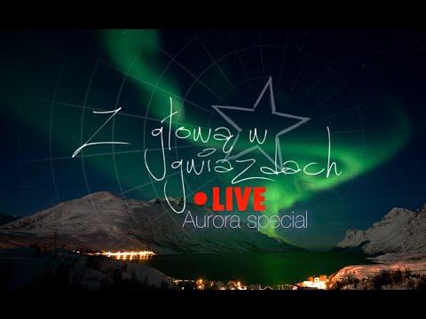 Nagranie zorzy polarnej wykonane przez Karola Wójcickiego.