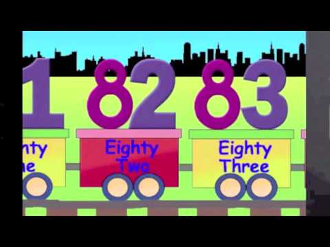 Learning Numbers, Learn Counting, 81 to 90, the number train learning for kids