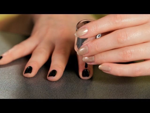 How to Do a Black Design | Nail Art