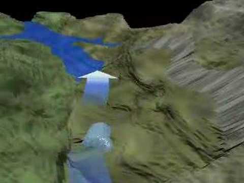Animazione digitale della frana del monte Toc - Vajont