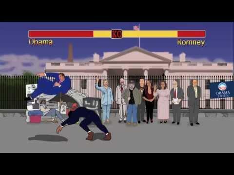 Obama vs Romney - Street Fighter Election