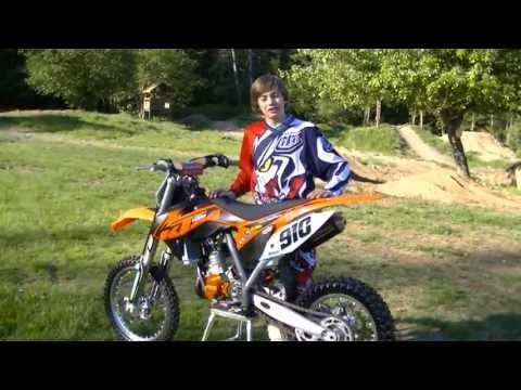 Carson Brown Tests the KTM 85 SXS for Motocross Action Magazine