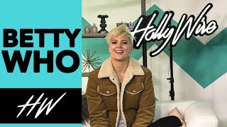 BETTY WHO Gives Us a TASTE of Her New Song! - HOLLYWIRETV