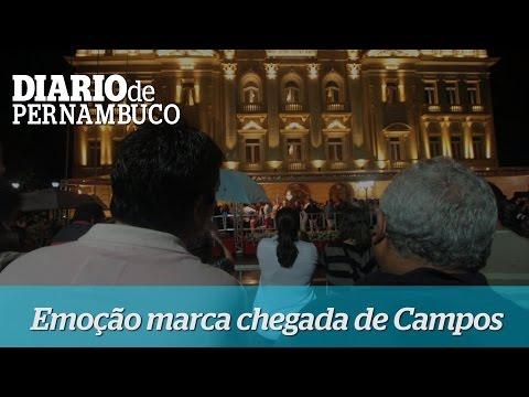Emoção durante cortejo e velório de Eduardo Campos