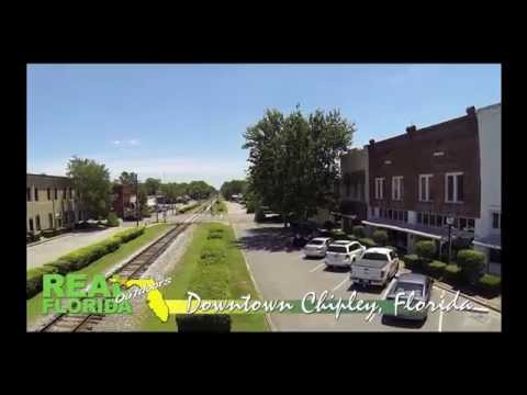 Aerial photo and video shoot in Downtown Chipley 7-17-14 HD