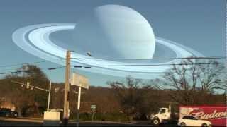 cómo se verían los planetas si estuvisen a la misma distancia que la luna