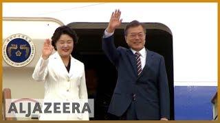 🇰🇷 🇺🇸 S Korean president arrives in US amid fears for Kim-Trump summit | Al Jazeera English - ALJAZEERAENGLISH