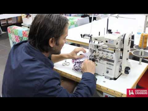 como hacer un bañador con maquina de coser industrial y domestica