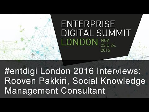 #entdigi16 Interviews: Rooven Pakkiri, Social Knowledge Management Consultant