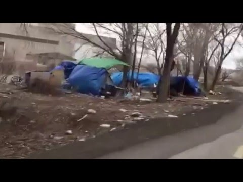 Truckee River Bike Path Homeless Camp